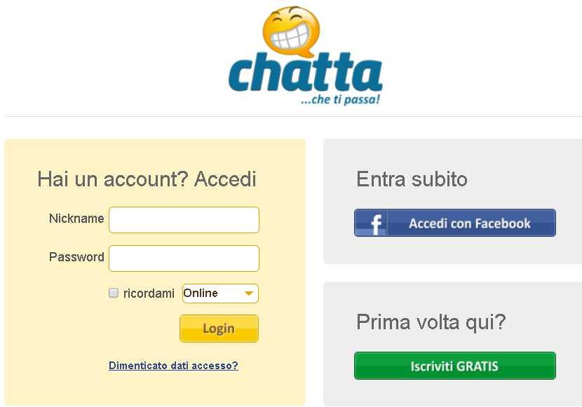 chatta. it iscrizione