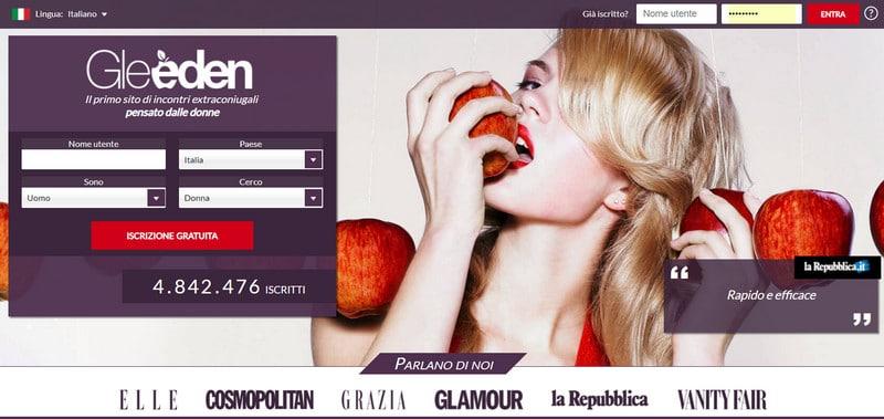 gleeden home page