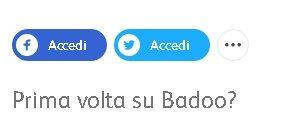 iscrizione a badoo facebook twitter