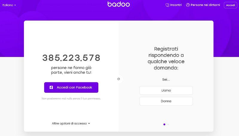 Come iscriversi a badoo