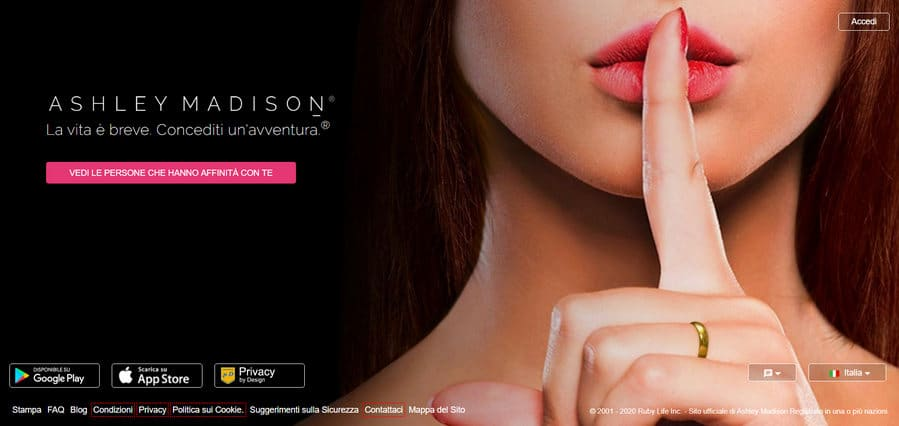 ashley madison home page